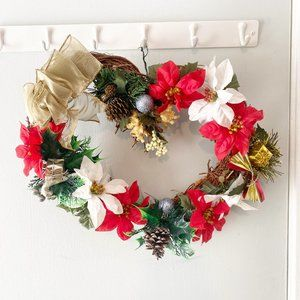 Heart Shaped Christmas Wreath 14 Inches